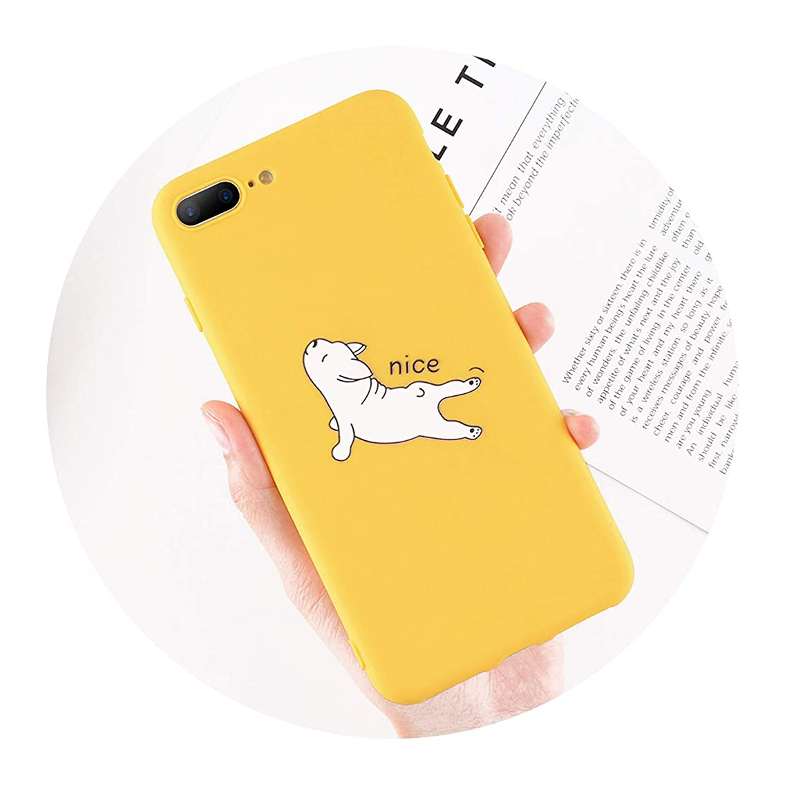 Funny Cartoon Giraffe Phone Case for iPhone 7 8 Plus TPU Silicone Back Cover for iPhone X XR XS Max 6 6S Plus Soft Cases,AC1791,for iPhone 8 Plus