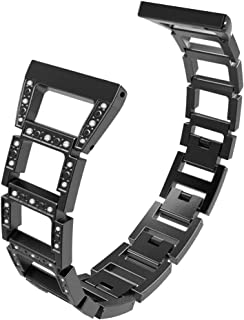 NICERIO Compatible for Fitbit Versa, Fashion Stainless Steel Watch Strap Exquisite Unique Watchband Replacement Watch Band...