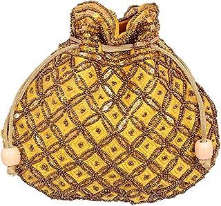 NL Gems Rajasthani Style Royal Clutch Silk Batwa Bag