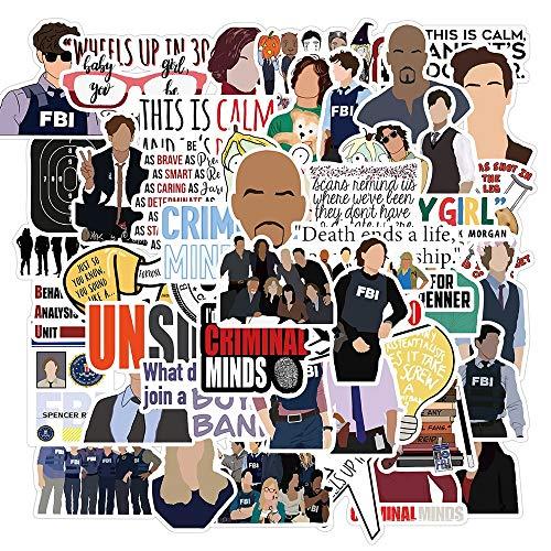 PMSMT 50pcs TV-Serie Criminal Minds Graffiti-Aufkleber Vinyl für DIY Laptop Skateboard PS4 Gitarre Aufkleber Helm Classic Toy Sticker