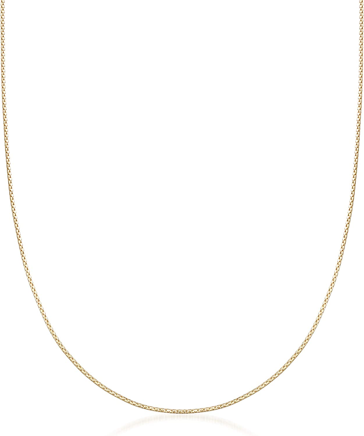 Ross-Simons 1.2mm 14kt Super sale Yellow Gold Popcorn Neck Max 62% OFF Adjustable Chain