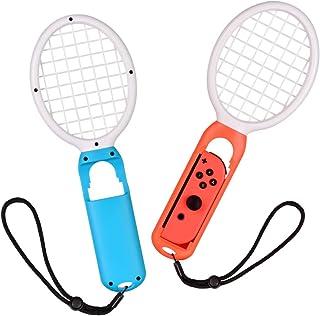 マリオテニスラケット iitrust ハンドストラップ付 2個セット 軽量 耐久性 テニスゲームの臨場感 Nintendo Switch Joy-Con ラケット型アタッチメント