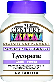 21st Century Lycopene 25Mg 60 Count (3 Pack)