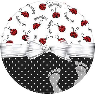 DECER Bedroom Floor Shower Round Rugs Towel bathroon Non Slip Bath mat-Little Ladybugs