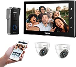 "TMEZON 10"" Wireless Video Doorbell Intercom WIFI IP Door Phone Montion Detection Entry System with 1x720P Security Camera ..."