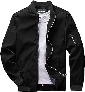 Mens Slim Fit Lightweight Jacket Softshell Flight Bomber Jackets Coat