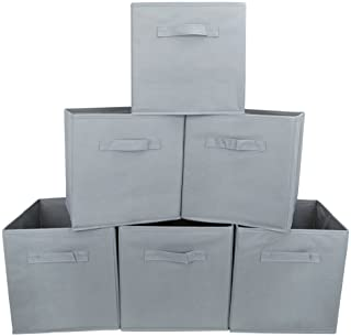 EZOWare Boîtes de Rangement Ouvertes en Textile Non-Tissé, Tiroir en Tissu pour Linge, Jouets, Vêtement, Disques DVD - Pac...