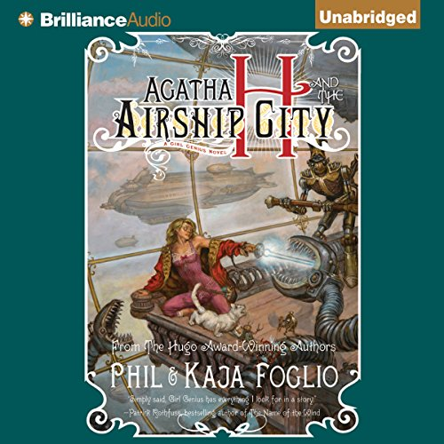 Agatha H and the Airship City audiobook cover art