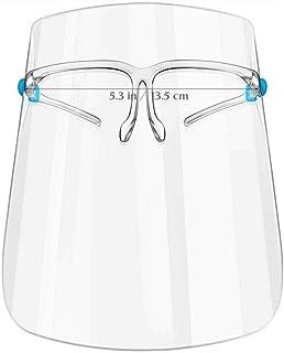SHATCHI Skyddsvisir för ansiktet, helt täckande, dimfri, klar, 1 par glasögonramar + 3 sköldar, PSA
