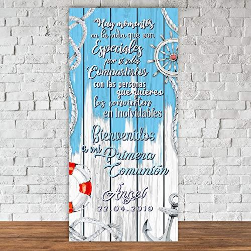setecientosgramos Decoración Comunión | Cartel Comunión Sailor | 70cm x 150cm