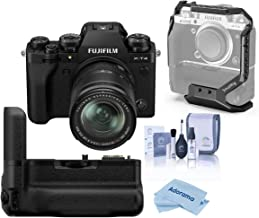 Fujifilm X-T4 Mirrorless Digital Camera with XF 18-55mm f/2.8-4 R LM OIS Lens, Black Vertical Battery Grip for X-T4, Clean...