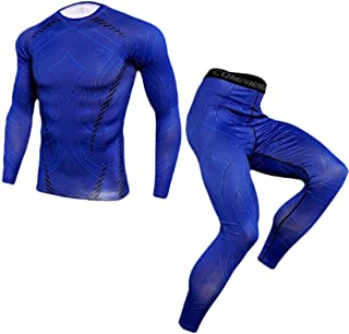 Men Sports Set Quick-Drying Running Fitness Long-Sleeve Two-Piece Set