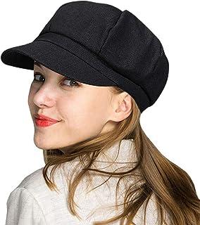 Sponsored Ad - WETOO Womens Peaked Newsboy Cap for Women Soft Cotton Women Hats with Visor Rib Baker Boy Turban Chemo Bagg...