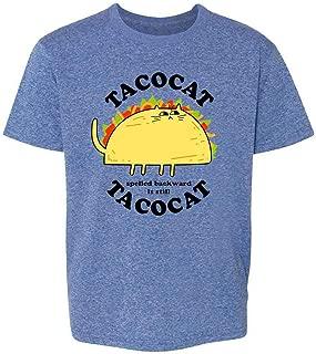 Tacocat Spelled Backward is Tacocat Funny Taco Cat Youth Kids Girl Boy T-Shirt