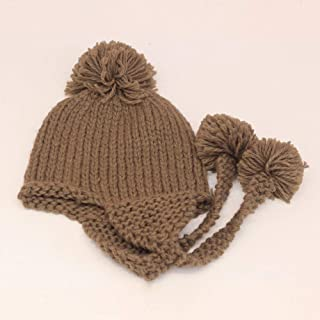 JXSHQS Hat Female Autumn and Winter Wild Wool Hat Sweet Cute Fashion Knit Hat Thickening Earmuffs Riding Hat Wool Cap (Color : Camel)