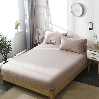 Zzyx Drap-housse 100 % coton antidérapant avec bande élastique pour lit Queen Size Textiles de maison (Couleur : transpare...
