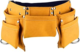 Qauick Kyds Real Leather Kids Tool Belt/Child's Tool Pouch for Children Youth Costumes Dress Up Role Play