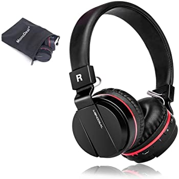 Amazon Com Active Noise Cancelling Wired Wireless Bluetooth Headphones With Mic Monodeal Foldable On The Ear Headset Soft Memory Protein Earmuffs Hi Fi Stereo Headset For Pc Cell Phones Tv Electronics