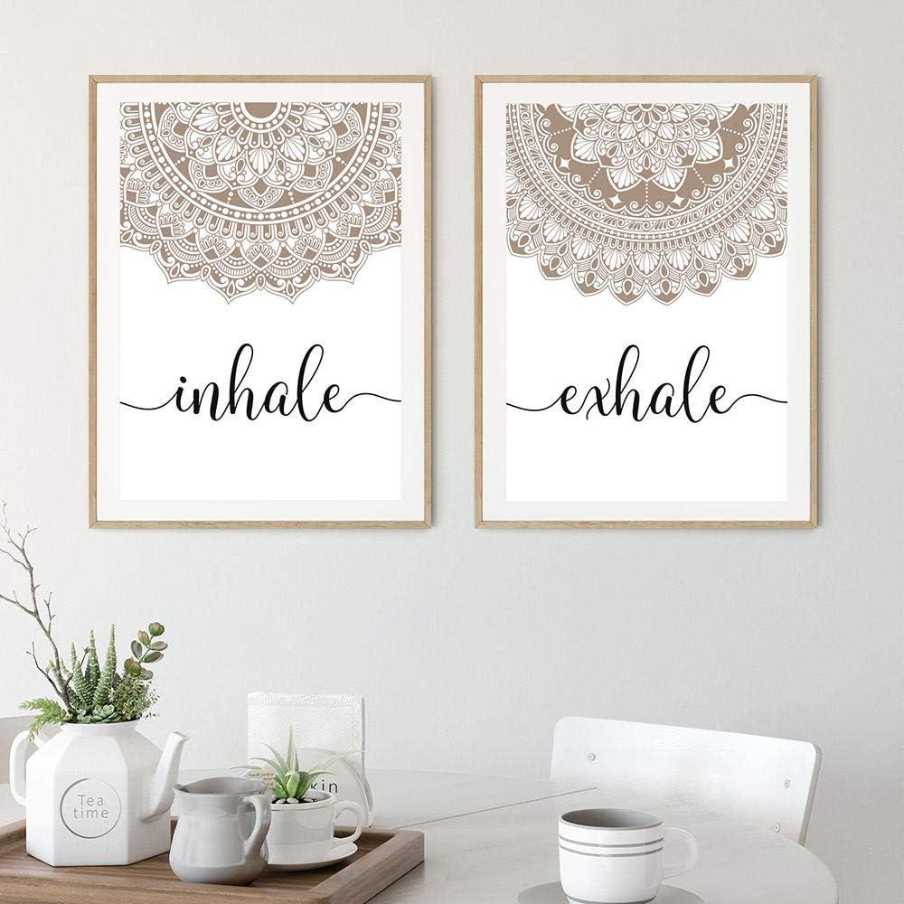BINGJIACAI Austin Mall Bohemian Exhale Inhale Mandala Poster Mindfulness Max 66% OFF Zen