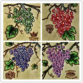 Tiles Grapes - Decorative Ceramic Art Tile / 4