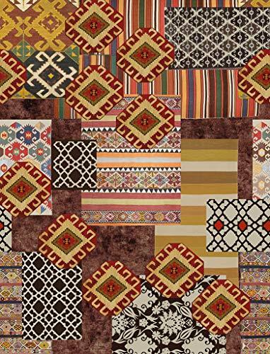 Vilber Bohemian Kilim 2494 Alfombra, Vinilo, Multicolor, 153x200x0.2cm