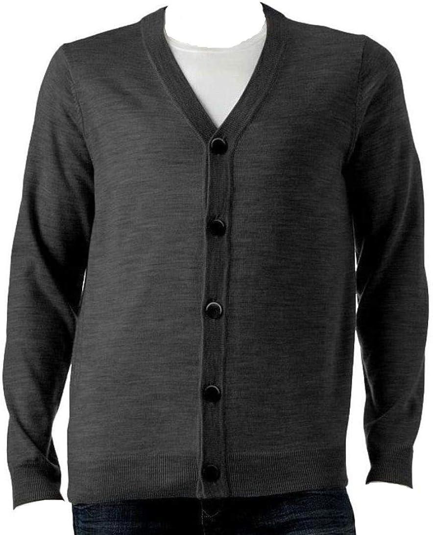 Liz Claiborne Apt 9 Classic Fit Merino Cardigan Sweater Wool Max 86% OFF Popular products Ble