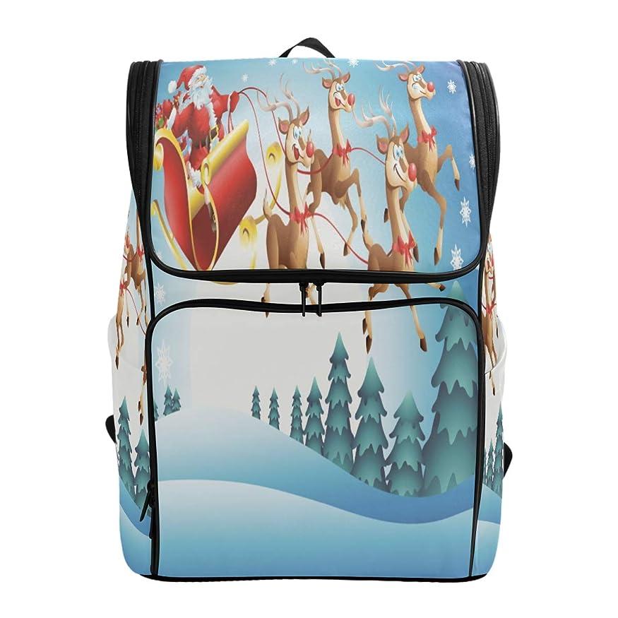 幸運なことに事件、出来事アパートリュックレディース メンズ 黒 レトロ メリークリスマス サンタクロース 通勤 outdoor 軽量?大容量?防水加工 修学旅行 登山 ビジネス 薄型リュック pc リュック カジュアル 男女兼用