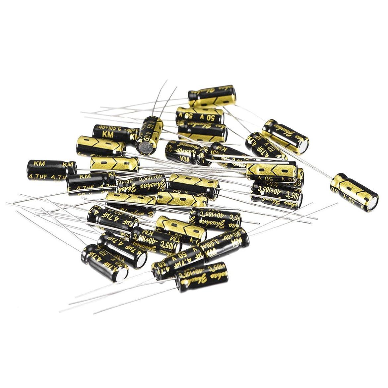 誘発する記録たっぷりuxcell 電解コンデンサ 4.7uF 50V 5x11mm ラジアルリードタイプ 30個入り