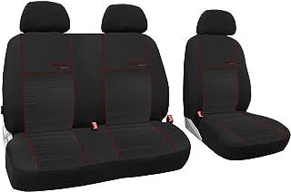 BUS 1+2 Front Grau Universal Auto Sitzbe bis 2014 Sitzbezüge MERCEDESVITO W639