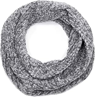 by you Women's Winter Soft Faux Fur Solid and Animal Print Neck Warmer Infinity Loop Circle Scarf