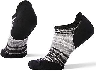 Women's PhD Run Sock- Light Elite Striped Micro Merino Wool Performance Sock