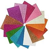 Hoja de Goma eva con Purpurina 8x12 Pulgada-2 mm Tamao A4 grueso para actividades de manualidades para nios Cortadores de bricolaje Art-21x30cm (Multicolor) (14 pcs)