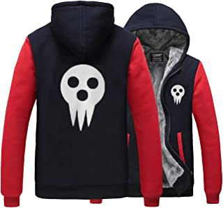 Nsoking Hot New Anime Anime Soul Eater Death The Kid Thick Winter Coat Hoodie
