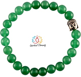 Spiritual Elementz Reiki Charged Gift Green Aventurine Gemstone (7-8 mm) Green Aventurine Gemstone Chakra Stretch Bracelet...