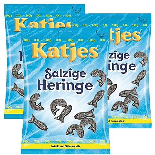 3 x Katjes Salzige Heringe 500g