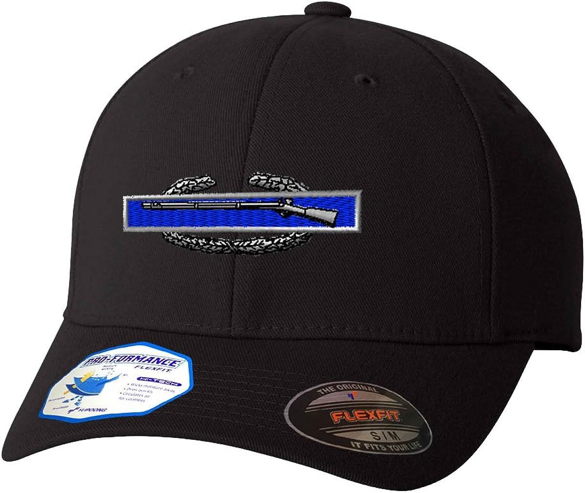 Combat Infantry-Man Badge Flexfit Adult Pro-Formance Branded Hat Black Large/X-Large