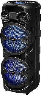 Haut-parleur Bluetooth BSL-S60 avec éclairage RVB, 2 haut-parleurs de 8 pouces, 2 x 15 W RMS, batterie de 4 heures d'auton...