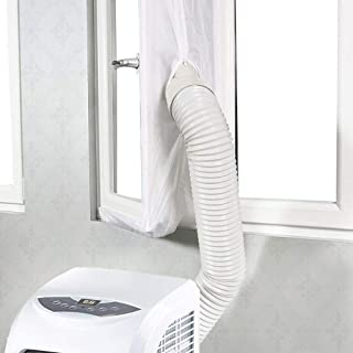 Janny-shop Sello de Ventana con Cremallera para Aire Acondicionado Portátiles y Secadoras Sellado Suave Deflector de Puerta Ventana Fácil Instalación