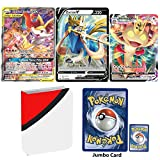 Totem World 3 Oversized Jumbo Cards with Totem Inspired Jumbo Poke Ball Binder Collectors Album Compatible with Pokemon Jumbos