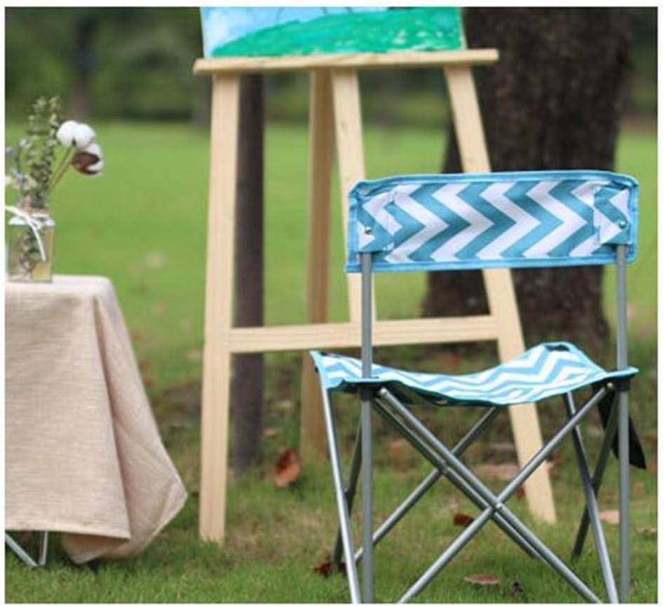 HOMRanger Tabouret de Dessin Art Tabouret Portable Large Banc Mazar Chaise de pêche Simple Chaise Pliante en Plein air Trompette (Couleur: Rose) 1
