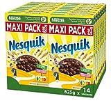 Cereales Nestlé Nesquik - Cereales de trigo y maíz tostados al cacao - 14 paquetes x 625g