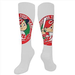 ストッキング ソックス 靴下Carp Hiroshima 広島東洋カープ DSERC サッカーウェア 男女兼用 野球 スポーツソックス アウトドア 通気 吸汗 細身