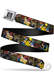 1.0 Wide 20-36 Inches in Length Buckle-Down Seatbelt Belt HOLLYWOOD Sign Skyline Black//Grays//White