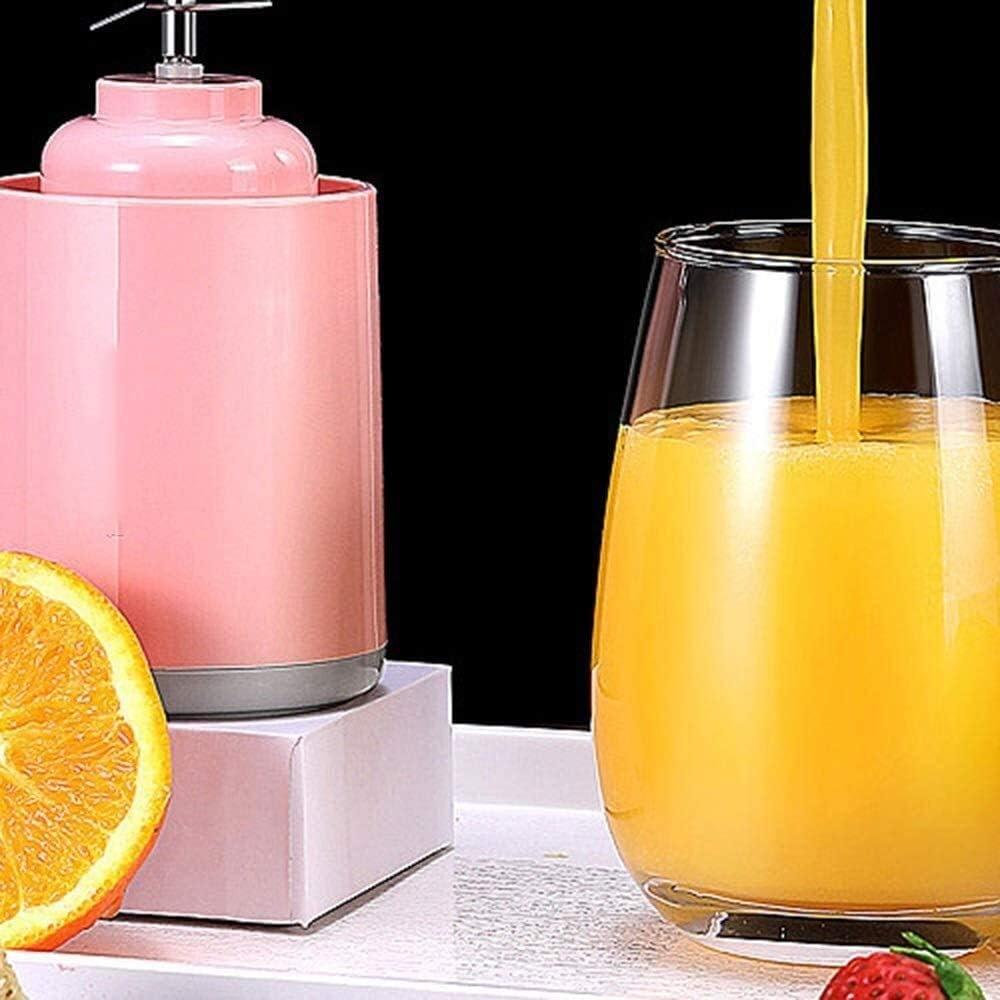 Suge Ménage Fruit Juicer Portable jus de charge Coupe-agrumes Mini Fruit Blender for la maison, bureau, Sport, Voyage, Plein air (Color : Pink) Pink