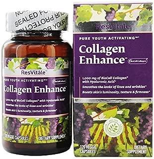 ResVitale - Collagen Enhance 1000 mg. - 120 Vegetarian Capsules by ResVitale