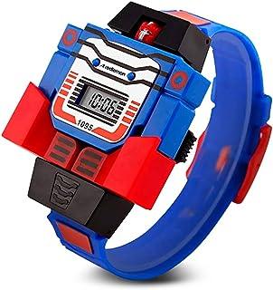 Redlemon Reloj para Niño Digital, Diseño Infantil Robot Desmontable, Hora y Fecha, Modelo 1095. Azul