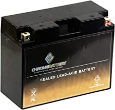 Chrome Battery YTX24HL-BS High Performance - Maintenance Free - Sealed AGM Motorcycle Battery