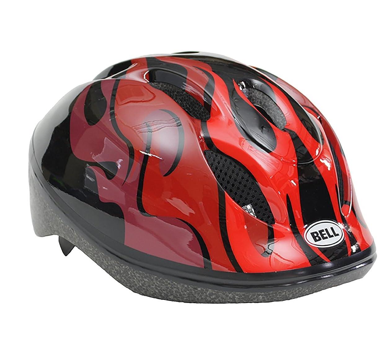 職業解放するキャンベラベル(BELL) ヘルメット ズーム2 ZOOM2 ブラック/レッドフレイムス