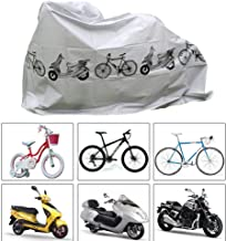Vuffuw Waterproof Bike Cover for Outside Storage, Universal Dust-Proof UV Bicycle Rain Cover for Mountain Bike Electric Car, Outdoor Moped Scooter Sheet Shelter