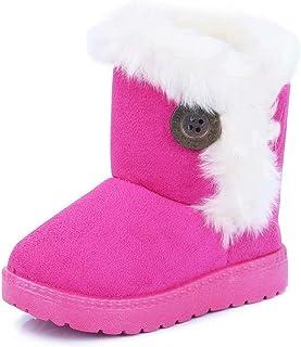 63aae4e92cfe4 Gaatpot Fille Garçon Chaussures Bottes d'hiver Bébé Enfant Bottines Mode de Neige  avec Doublure